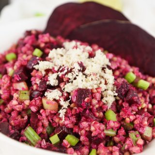 Buckwheat Salad with Beet, Celery, and a Hint of Horseradish