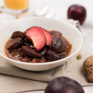 Juicy Prune Compote with Dried Figs, Cinnamon, Cloves and Cardamom