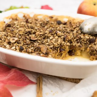 Quinces and Apple Crumble with Hazelnuts and Warming Winter Spices