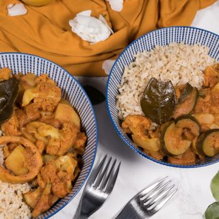 Lemony Cauliflower Curry with Sumach